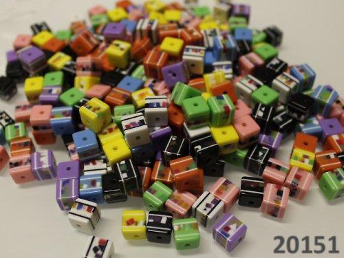 20151-100 Korálky kostky mozaika 8/8 MIX bal.100ks