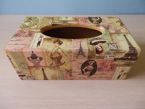 Krabička na kapesníky starobylá Paříž