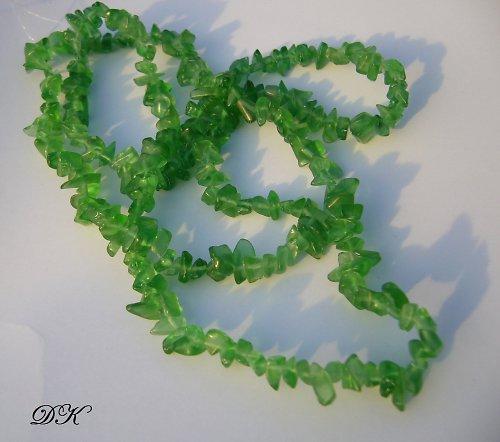 sklenené zlomky - návlek