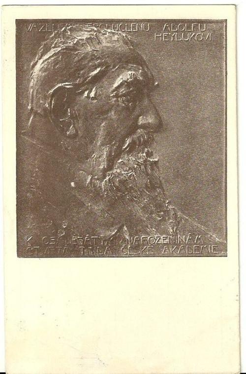 Umělecká pohlednice relief St.Sucharda Ad.Heyduk