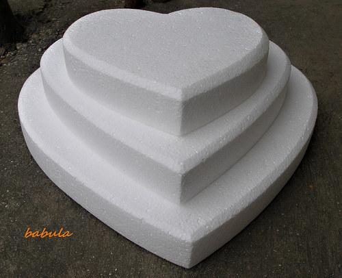 polystyrenové srdcia trio mega sada / 3ks