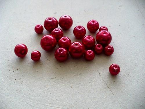 voskované perly mix velikostí 50g