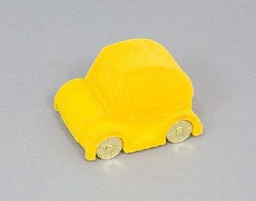 Sametová krabička na šperky - žluté autíčko