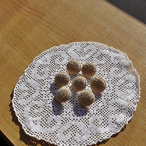Kožené potahované knoflíky