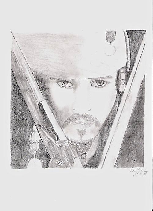 Pirát kapitán Jack Sparrow.. SKLADEM