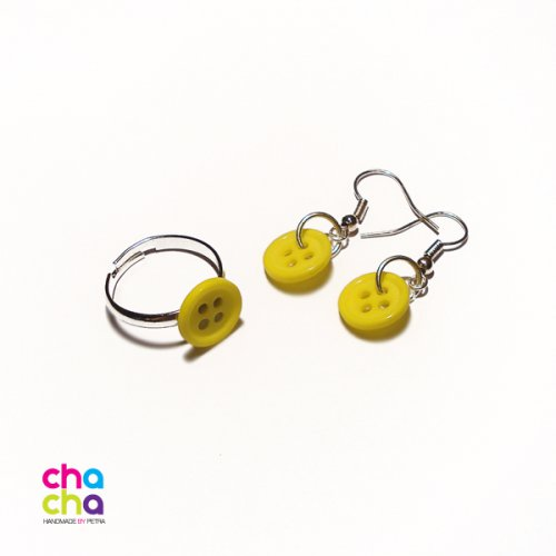Knoflíkový set - žlutá
