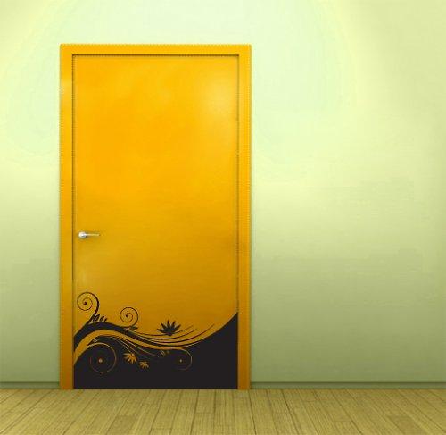 Kvetoucí dekorace na dveře - samolepka na dveře