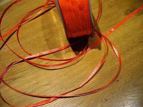 stužka satén oranž 3mm