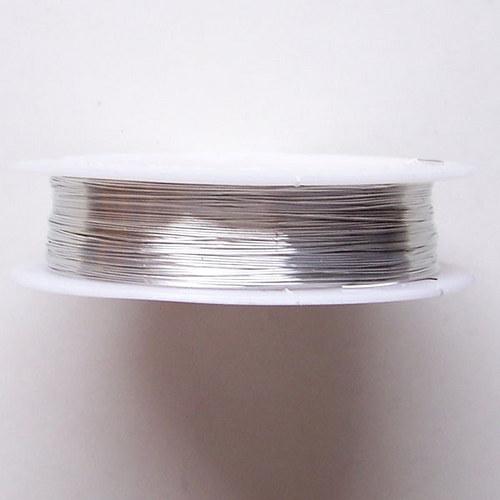 Drát lakovaný/ 0,3mm/ stříbrná / 20m