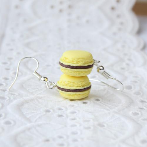 Vanilkovo-čokoládové makronky menší