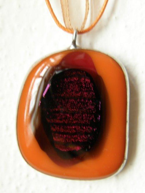 Skleněný náhrdelník Pomeranč
