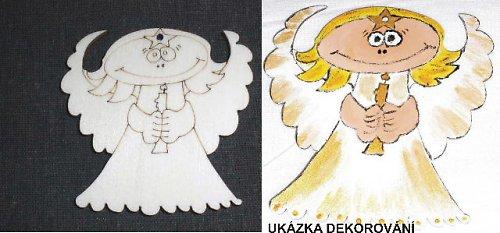 Andělíček - v.10,5x11cm
