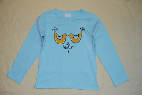 Tričko s ptáčky