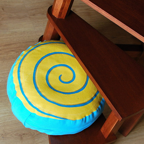 """Meditační polštář \""""Spirála sluneční\"""""""