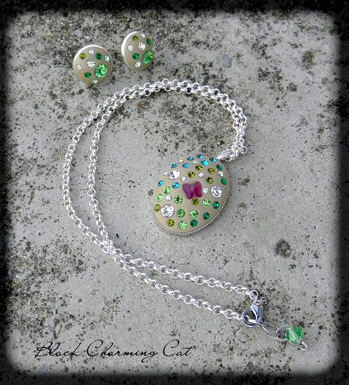 Křídla motýlí  - sada šperků