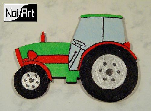 Traktor zeleno-červený