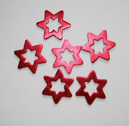 Hvězda červená  - 3 ks