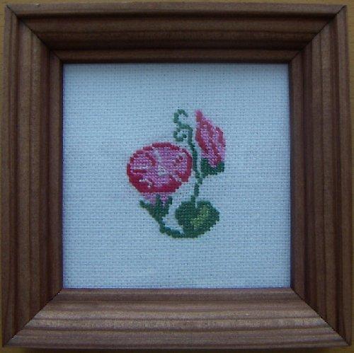 Vyšívaný obrázek - růžový svlačec