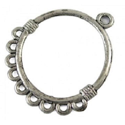Ramínko ověs  kruh - barva stříbrná antik 1ks