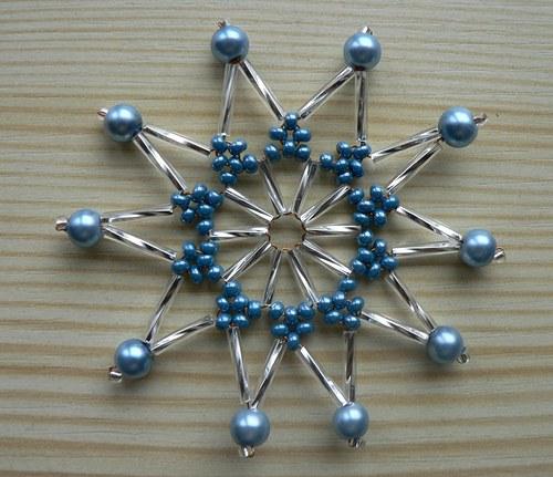Vánoční hvězda perlová V