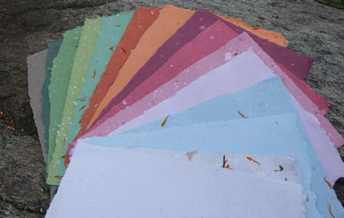 Ruční papír A4 - 6ks barvy dle přání