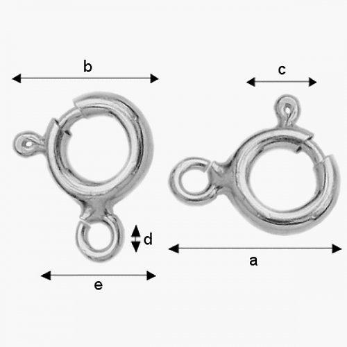 Zapínání stříbro Ag 925/1000