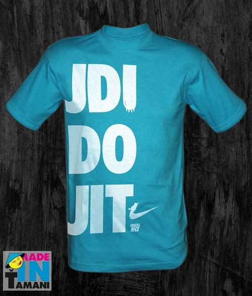 Pánské tyrkysové tričko Jdi do jit