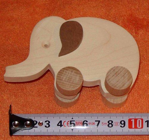 slon - dřevěná hračka