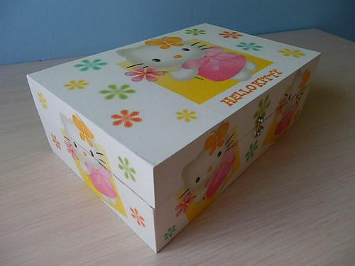 Šperkovnice 8 přihrádek Hello Kitty