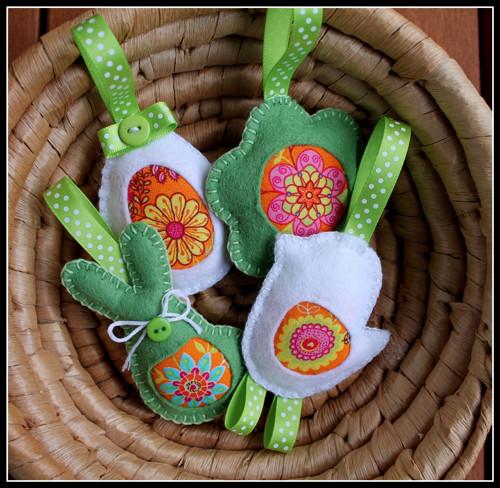 Velikonoční dekorace - závěsná 4 ks