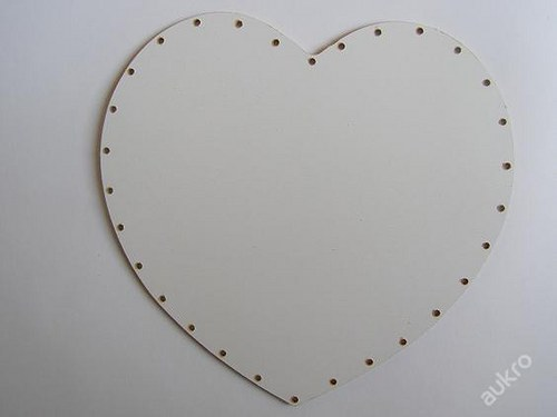 Dno pro pedig  - srdce 20 x 21 - MDF
