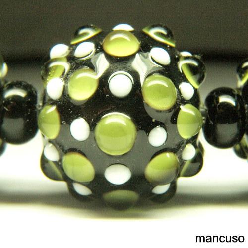 náhrdelník pásovec zelený