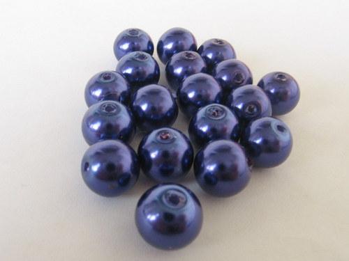 Vosková perla - tmavě fialová 8 mm / 25 ks