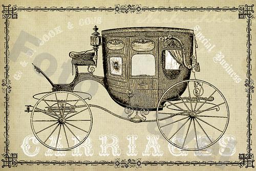 Vintage motiv - kočár1