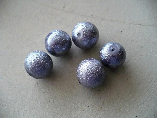 voskované perly vroubkované 12mm - 5ks