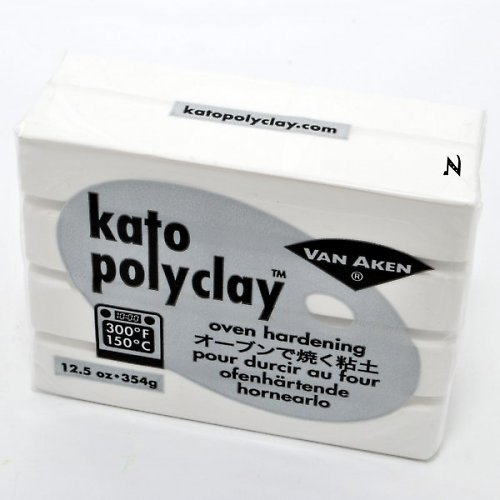 Kato Polyclay velké balení / Bílá