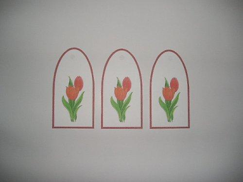Visačky s tulipány