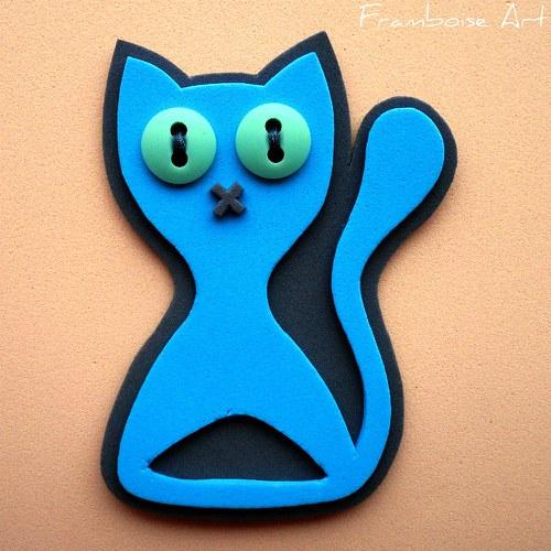 Modro šedivá kočka