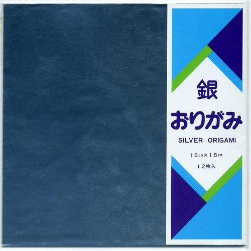 Origami Stříbrný papír 12ks