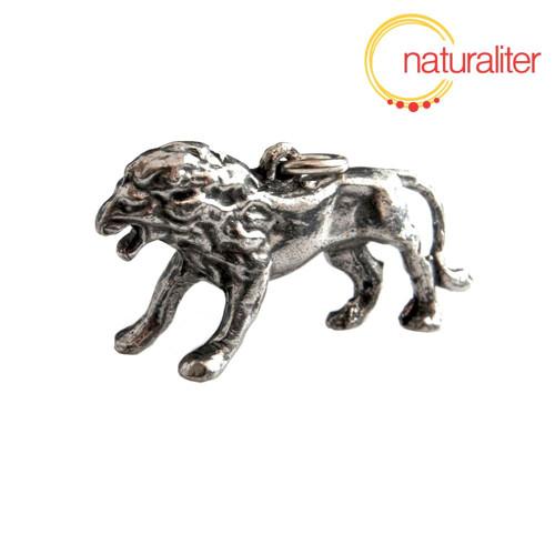 Lev - litý přívěsek, starostříbro