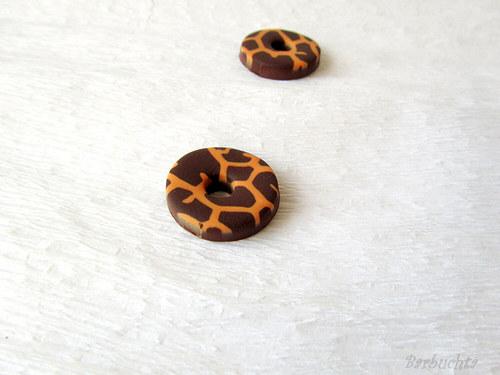 Náušnice Žirafí donutky