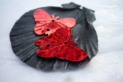 flitry motýl - hologramové červené 30 ks