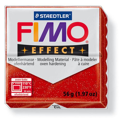 Fimo effect třpytivá červená 202