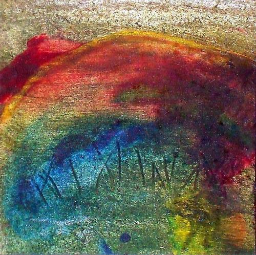 my misty morning - tisk na plátno.