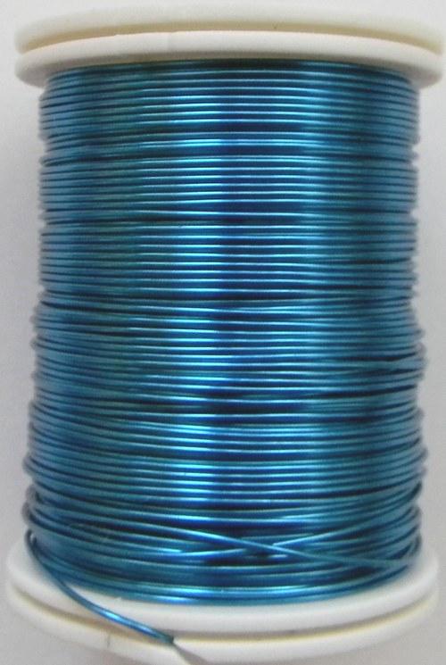 Měděný lakovaný drát 0,8 mm světle modrý