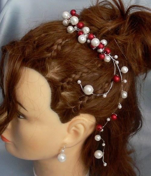 ozdoba do vlasů a naušnice