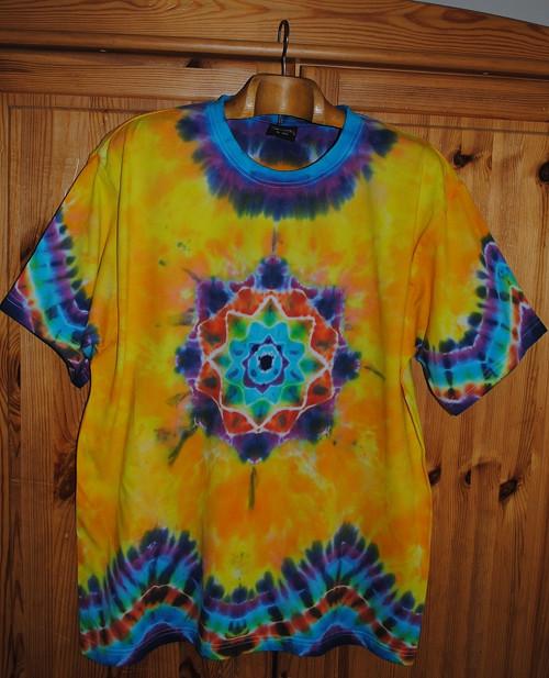 Batikované tričko XL - Jarní