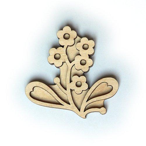 Dřevěné razítko - pomněnka