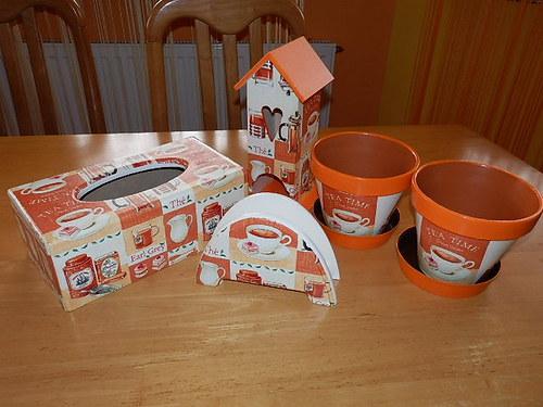 Sada Tea Time oranžová