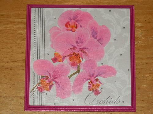 Obrázek na MDF destičce Orchidej IX